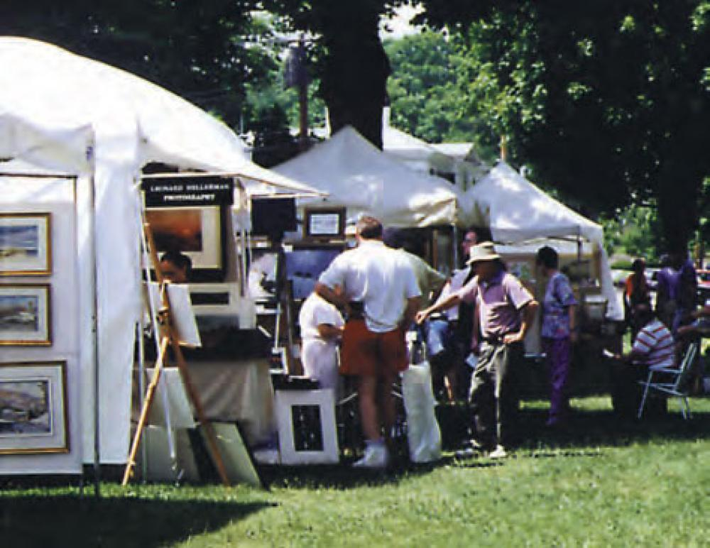 The 18th annual New Milford Outdoor Art Festival is being sponsored this year by the New Milford Historical Society. It will be held on Saturday, June 15th from 10:00am to 6:00pm and Sunday June 16th from 12:00pm to 5:00pm on the Village Green. This is a fine art show that attracts artists from all over New England and beyond. Artists love this show. Crowds come to buy art and not ice cream. Testimony to its success is the extremely high rate of returning artists every year. The art show is a major fund raiser for the historical society. The historical society is a non-profit organization which maintains a public museum, and offers educational and cultural activities encouraging an appreciation of art, history and music.
