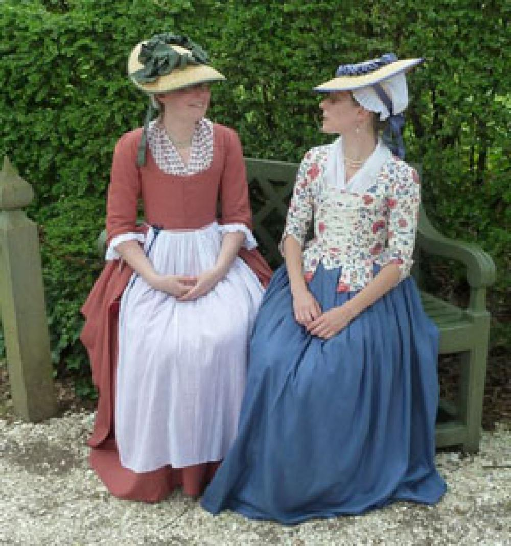 ~With Sarah St. Germain and Rebecca Starkins~ Learn about a 1770s wardrobe with Sarah St. Germain f