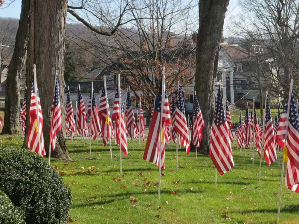 We invite you to Sponsor a Flag in Honor of a Veteran!