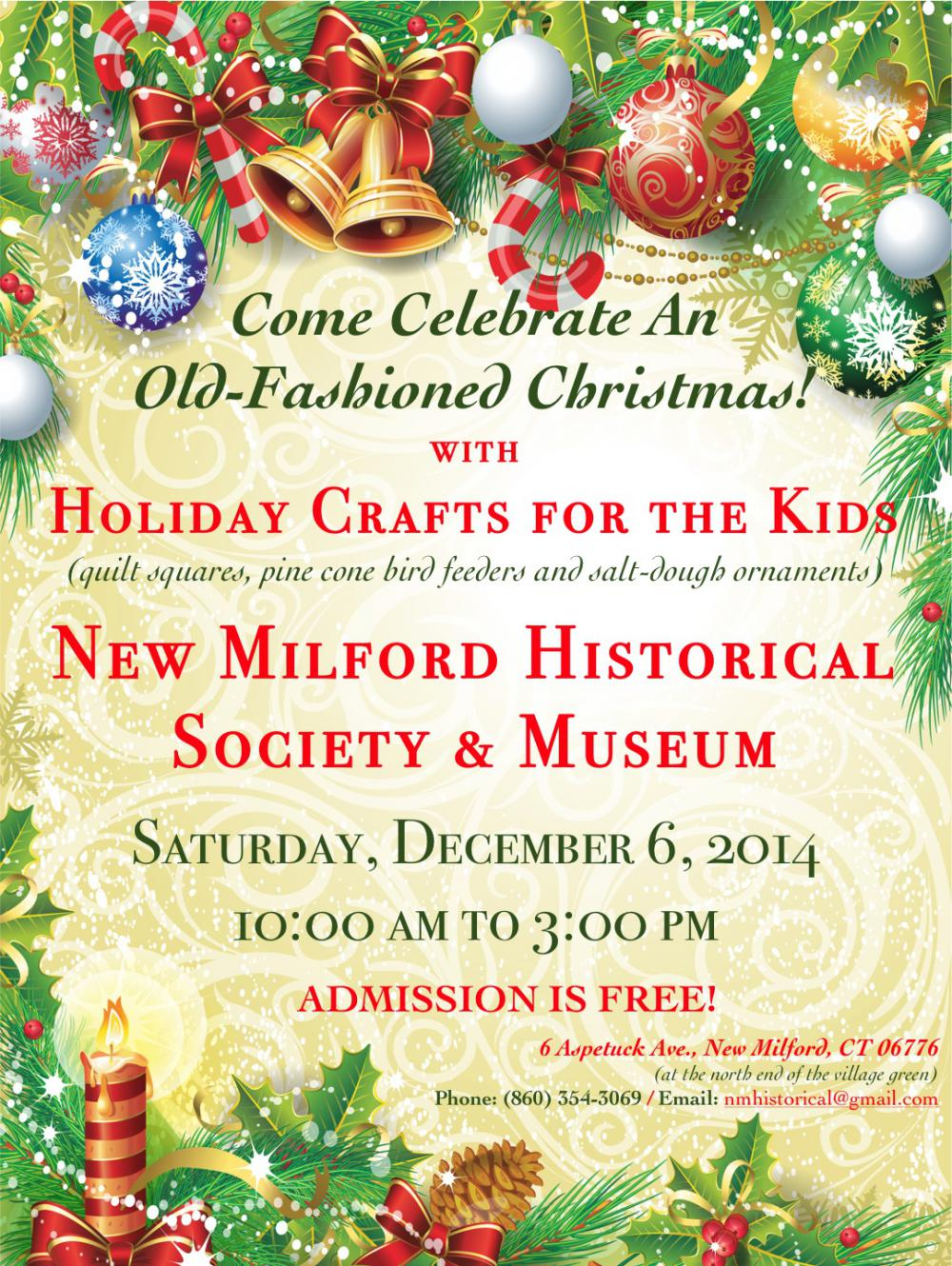 Come celebrate an old-fashioned Christmas with