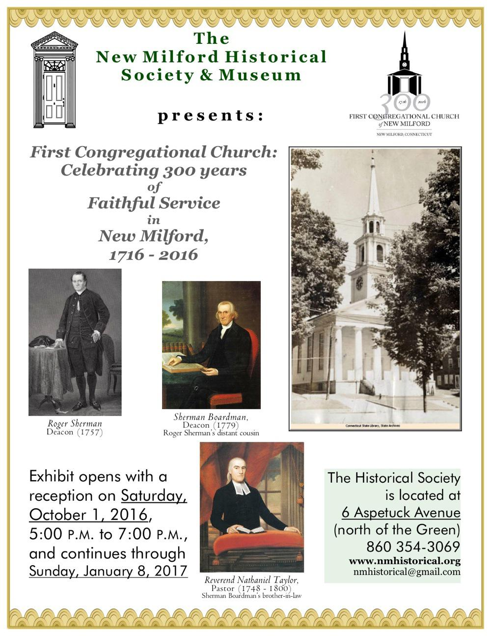 The New Milford Historical Society & Museum is pleased to announce the opening of their new exhi