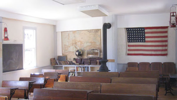 One room schoolhouses at the New Milford Historical Society
